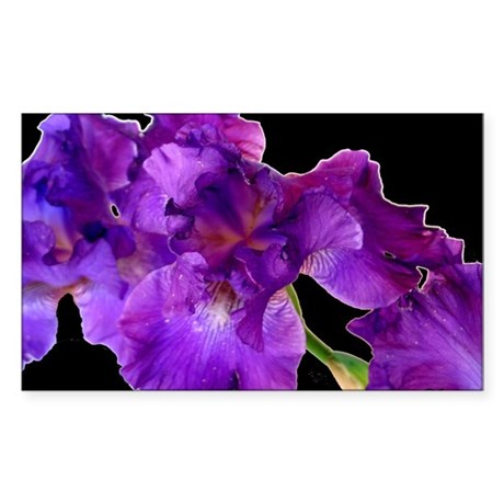 Purple Iris Rectangle Sticker