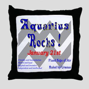 Aquarius January 21st Throw Pillow