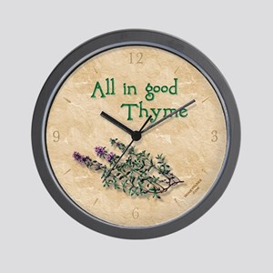 'ALL IN GOOD THYME' gourmet herb kitchen clock