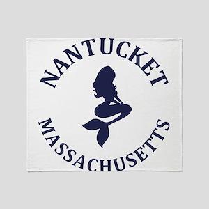 Summer nantucket- massachusetts Throw Blanket