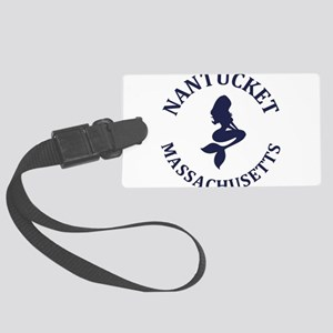 Summer nantucket- massachusetts Large Luggage Tag