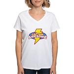 Captain Awesome Women's V-Neck T-Shirt