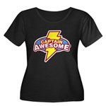 Captain Awesome Women's Plus Size Scoop Neck Dark