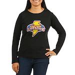Captain Awesome Women's Long Sleeve Dark T-Shirt
