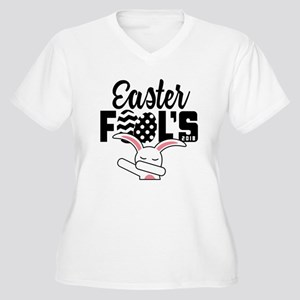 Easter Fools Women's Plus Size V-Neck T-Shirt
