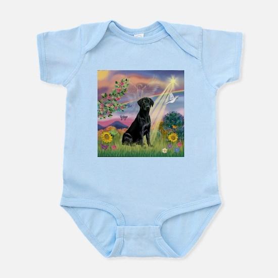 Cloud Angel & Black Lab Infant Bodysuit