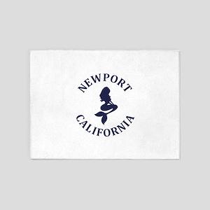 Summer newport- california 5'x7'Area Rug