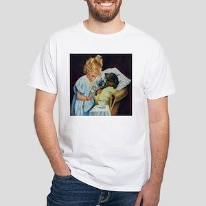 Doxie Nurse White T-Shirt