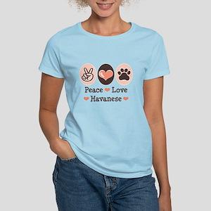 Peace Love Havanese Women's Light T-Shirt