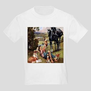 Horses & Puppies Kids T-Shirt