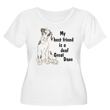 NMQN Deaf BFF Women's Plus Size Scoop Neck T-Shirt