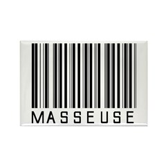 Masseuse Barcode Rectangle Magnet (100 pack)