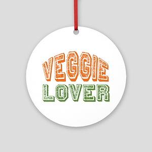 Veggie Lover Vegetarian Ornament (Round)