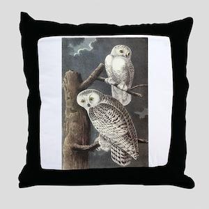 Snowy Owls Throw Pillow