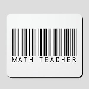 Math Teacher Barcode Mousepad