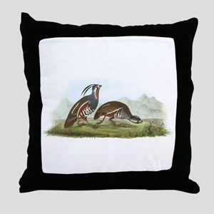 Mountain Quail Throw Pillow