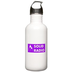 Solid Radio Logo Sports Water Bottle