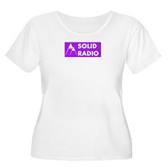 Solid Radio Logo Plus Size T-Shirt