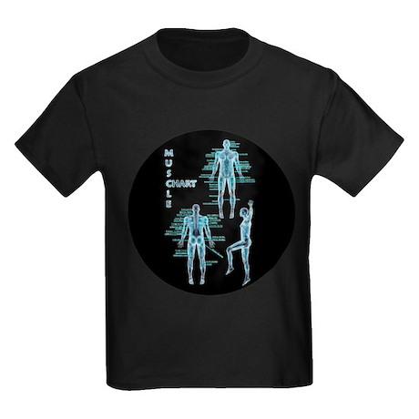 Muscle Chart Kids Dark T-Shirt