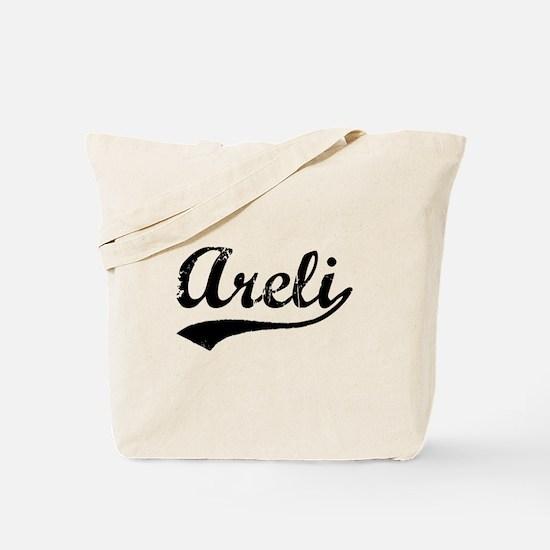 Vintage Areli (Black) Tote Bag