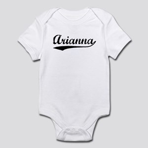 Vintage Arianna (Black) Infant Bodysuit