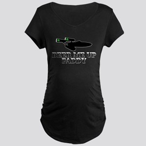 Beer me up Paddy Guinness Maternity Dark T-Shirt