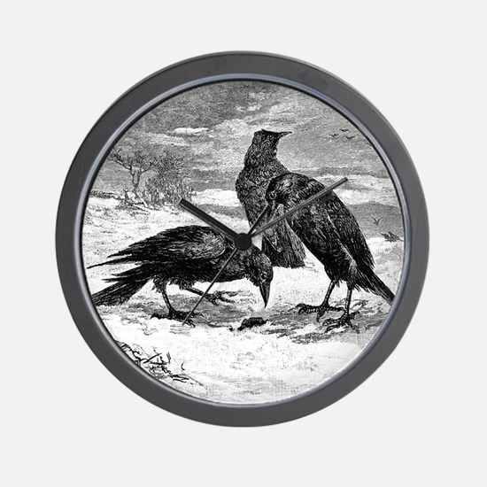 Murder of Crows Wall Clock