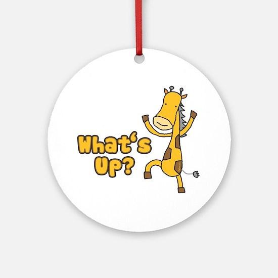 What's Up Giraffe Ornament (Round)