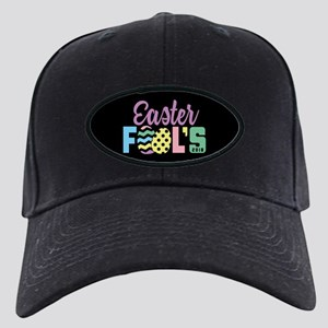 Easter Fools Black Cap with Patch