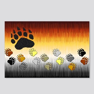FURRY BEAR PRIDE FLAG/PAWS2 Postcards (Package 8