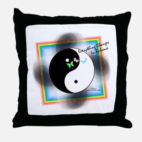 Yin Yang Change Throw Pillow