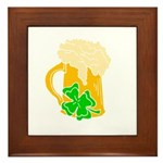 Irish Beer By The Pitcher Framed Tile