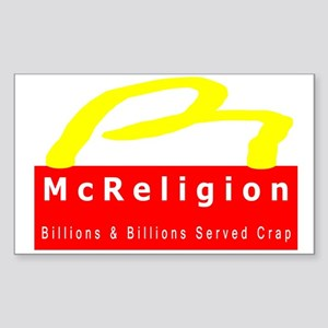 McReligion Mini Bumper Sticker