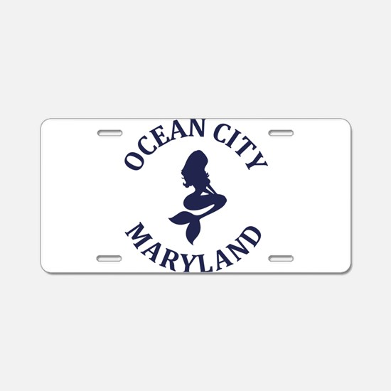 Summer ocean city- maryland Aluminum License Plate