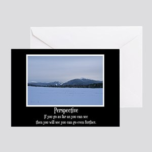 Mountains Perspective Greeting Card