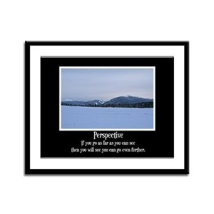 Mountains Perspective Framed Panel Print