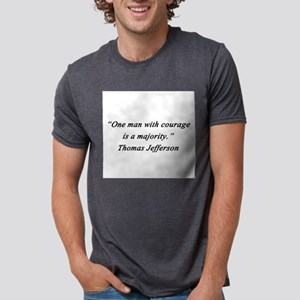 Jefferson - Man With Courage Mens Tri-blend T-Shir