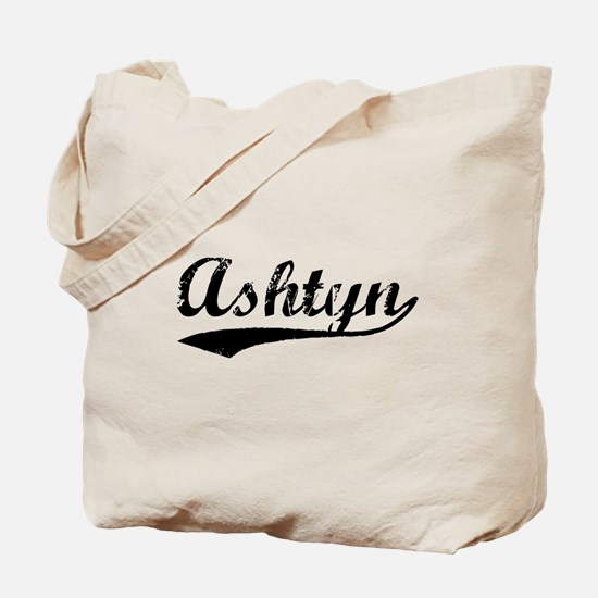 Vintage Ashtyn (Black) Tote Bag
