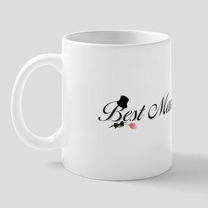 Black Script Best Man Mug