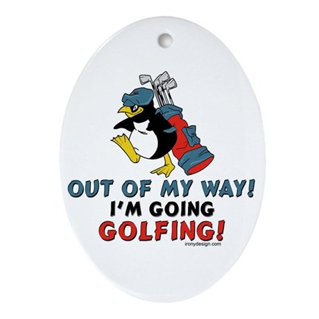 Golf Lovers Oval Ornament
