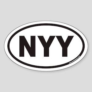 NYY Euro Oval Sticker