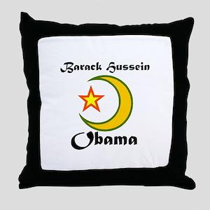 MUSLIM OBAMA Throw Pillow