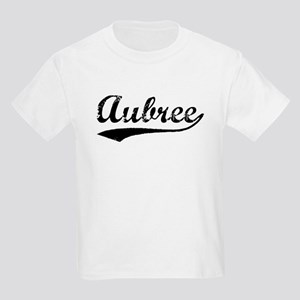 Vintage Aubree (Black) Kids Light T-Shirt