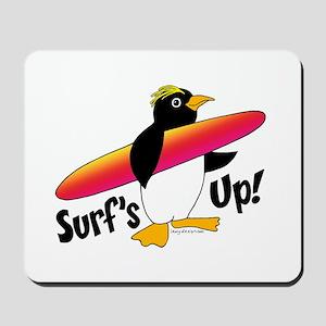 Surf's Up! Penguin Mousepad