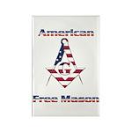American Free Mason Rectangle Magnet (100 pack)