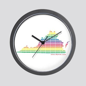 Lines of Color Wall Clock