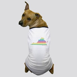Lines of Color Dog T-Shirt