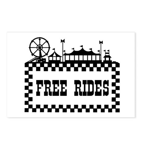 FREE RIDES Postcards (Package of 8)