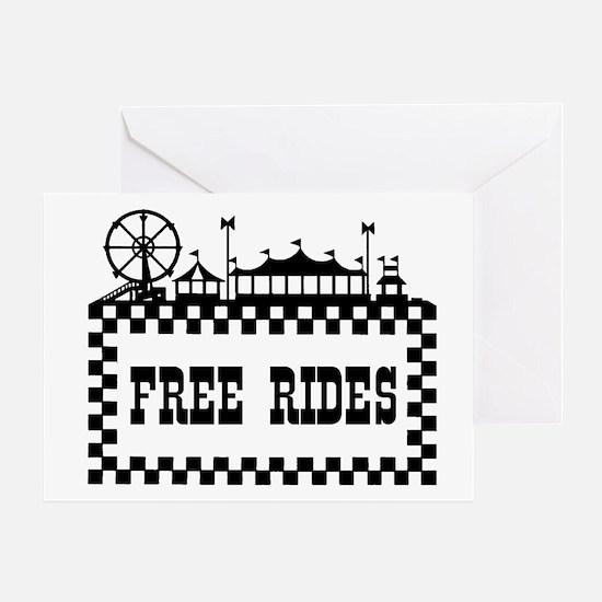 FREE RIDES Greeting Card
