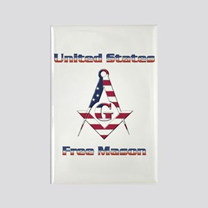 U.S. Mason Rectangle Magnet